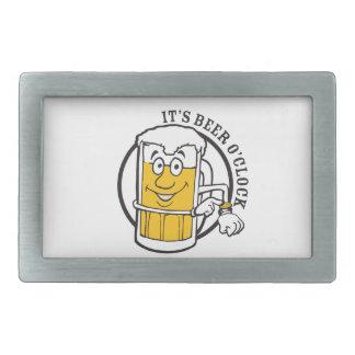 It's always time for Beer- Beer O'clock Rectangular Belt Buckle