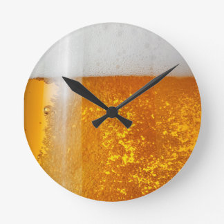 It's always time for Beer- Beer O'clock Round Clock