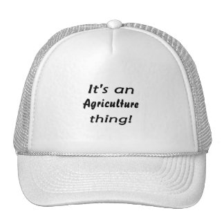 It's an Agriculture thing! Mesh Hat
