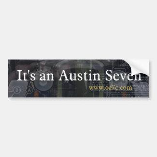 It's an Austin Seven bumper sticker