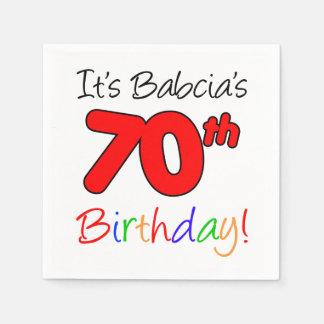 It's Babcia's 70th Birthday Polish Grandma Napkins Paper Napkins