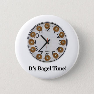 It's Bagel Time! 6 Cm Round Badge