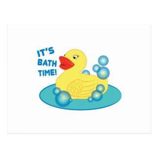 Its Bath Time Postcard
