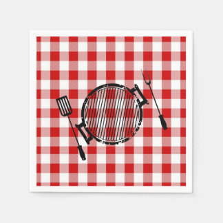 It's BBQ Time! Father's Day Party Napkins Disposable Serviettes