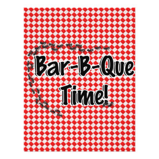 It's BBQ Time! Red Checkered Table Cloth w/Ants Flyer Design
