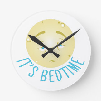 Its Bedtime Round Clock