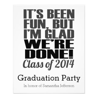 It's Been Fun, Class of 2014 Graduation Seniors 11.5 Cm X 14 Cm Flyer