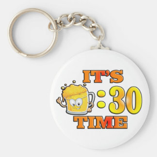 It's Beer:30 Time Basic Round Button Key Ring