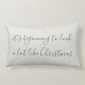 Its beginning to look a lot like Christmas Lumbar Cushion
