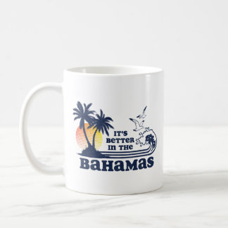 It's Better in the Bahamas Vintage 80s 70s Coffee Mug