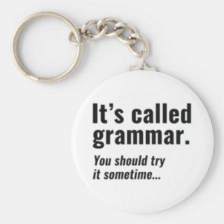 It's Called Grammar Key Ring
