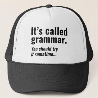It's Called Grammar Trucker Hat