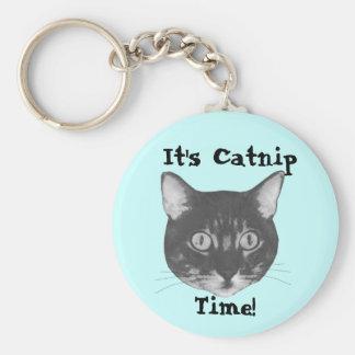 Its Catnip time! Basic Round Button Key Ring