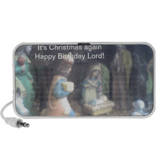 It's Christmas again Happy Birthday Lord  Doodle Laptop Speakers