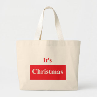 It's Christmas Jumbo Tote Jumbo Tote Bag