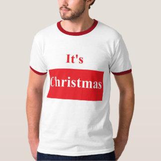 It's Christmas Men's Basic Ringer T-Shirt