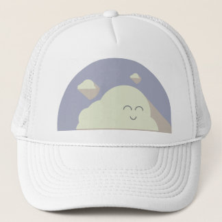 It's cloudy out there, love it! trucker hat