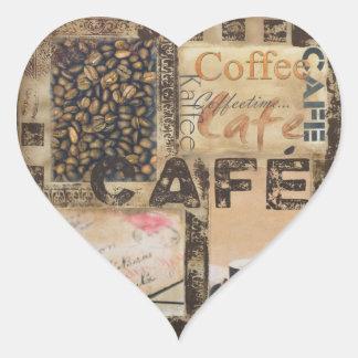 It's Coffeetime Heart Sticker