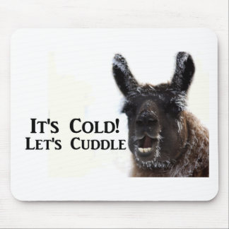 its cold lets cuddle mouse pad