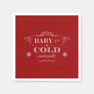 It's Cold Outside Winter Celebration Disposable Napkins