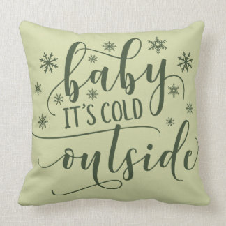 It's Cold Outside | Winter Snowflakes Cushion