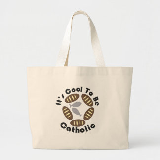 It's cool to be catholic large tote bag