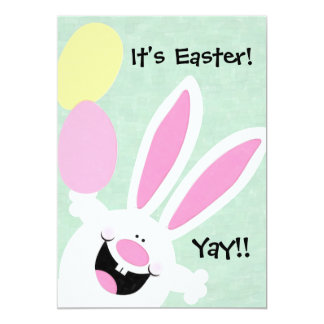 """It's Easter! Yay! Easter Egg Hunt Invitation 5"""" X 7"""" Invitation Card"""