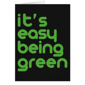 It's easy being green card
