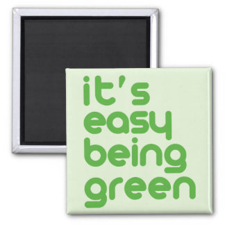 It's easy being green refrigerator magnets