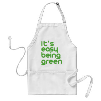 It's easy being green standard apron