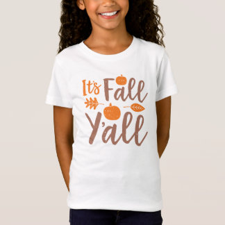 It's Fall Y'all Autumn Pumpkin T-Shirt