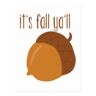 It's fall ya'll postcard