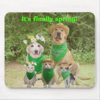 It's finally spring! mouse pad