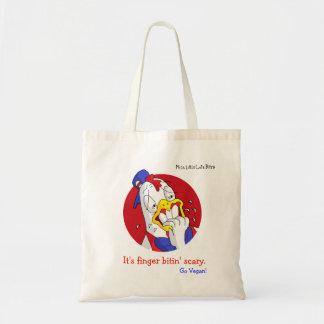 It's finger bitin' scary. - Go Vegan Tote Bag