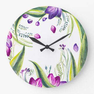 It's flowers time! large clock