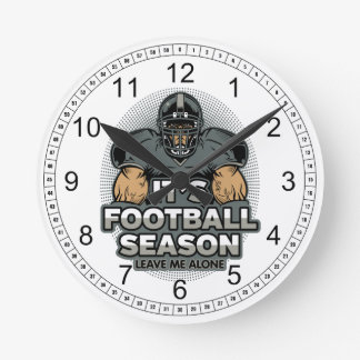 Its Football Season Leave Me Alone Wallclock