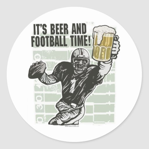 It's Football Time T-shirts and Gifts Stickers