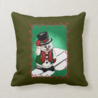 It's Frosty Outside (Green), 16x16 Throw Throw Cushion