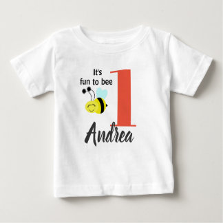 It's Fun to Bee One Personalized Shirt