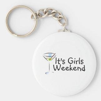 Its Girls Weekend Basic Round Button Key Ring