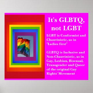 It's GLBTQ, not LGBT Poster