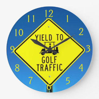 It's Golf Time! Large Clock