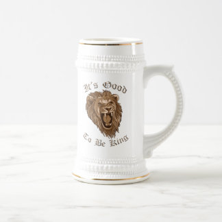 It's Good To Be King Lion Beer Stein