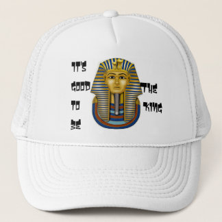 It's Good to be The King, King Tut Mask Trucker Hat