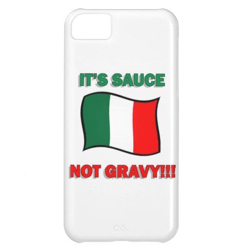 It's Gravy not sauce funny Italian Italy pizza tom Case For iPhone 5C