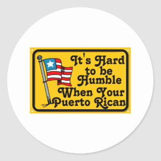 Its hard to be humble classic round sticker