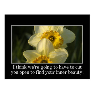It's hard work to find your inner beauty postcard