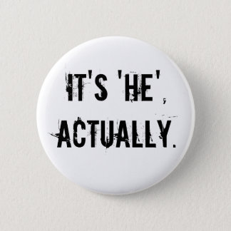 Its he actually 6 cm round badge