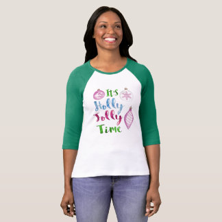 It's Holly Jolly Time Christmas T-Shirt