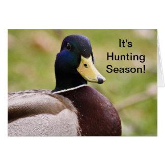 It's Hunting Season Duck Card